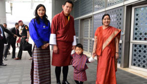 Sushma Swaraj Receives Bhutanese King And His Family