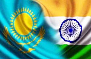 India Kazakhsthan Flag