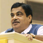 Nitin Gadkari Addressing