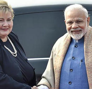 Prime Minister Narendra Modi Meeting With Norway Prime Minister Erna Solberg Before